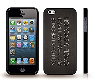 """iPhone 5/5S Case with """"You can't stop us all"""" Anti RIAA and MPAA Design, Red and White Font on Grey , Snap-on Cover, Hard Carrying Case (Black)"""