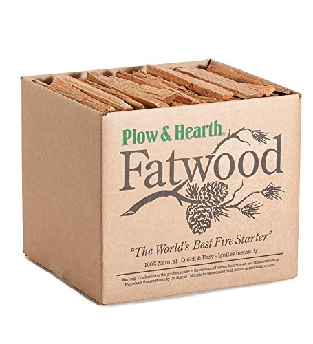 Fatwood Fire Starter, 25 Pounds (Woods Box Fatwood)