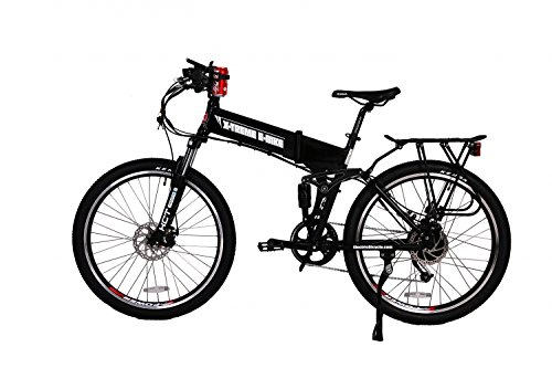 (X-Treme E-Bikes Baja 48 Volt Electric Bicycle |Black)