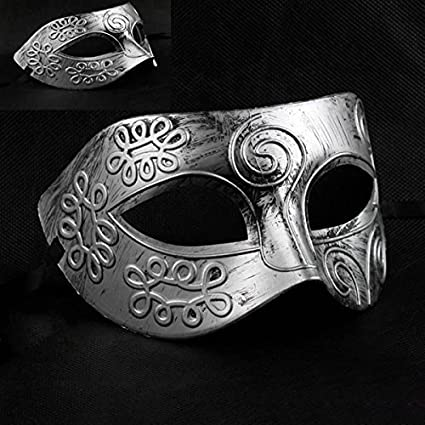 Men Ancient Greek Roman Fighter Masquerade Face Mask for Fancy Dress Ball Mask