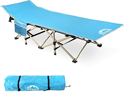 Folding Camping Cot Heavy-duty Bed w//Carry Bag for Travel Vocation Hiking Bed