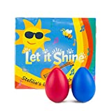 Children's GIFT SET Let it Shine CD + 2 Colorful Egg Shakers + cute gift bag, Fun Music for Little Ones - Educate, Stimulate and Inspire - Great GIFT for Kids & Baby- Music Parents LOVE, guaranteed