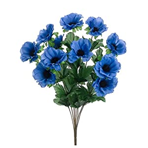 "18"" Anemone Bush x8 Delphinium (pack of 12) 23"