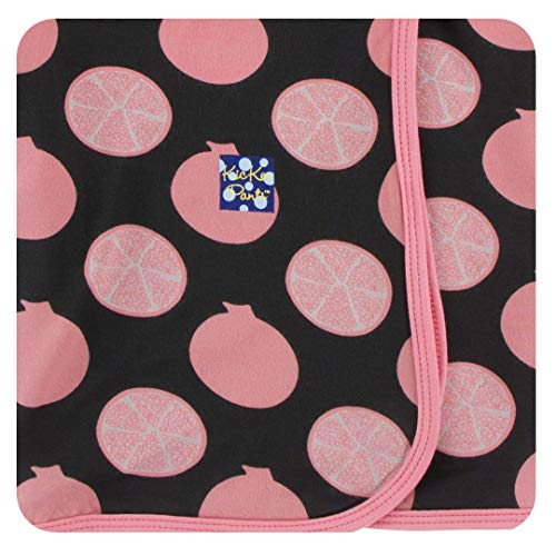 KicKee Pants Print Swaddling Blanket in Zebra Pomegranate, One Size