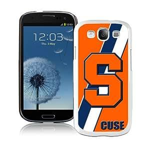 Hot Sale Samsung Galaxy S3 I9300 Screen Case ,NCAA Atlantic Coast Conference ACC Footballl Syracuse Orange 5 White Samsung Galaxy S3 Cover Unique And Popular Designed Phone Case