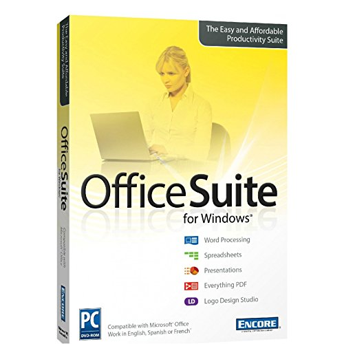 Office Suite 2016 for PC with Spreadsheets + Word Processing + PDF + Logo Design Studio ()