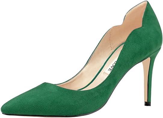 Amazon.com | JOY IN LOVE Women's Pumps Shoes Middle Heels Pointy Toe Dress  Pump Stilettos | Pumps