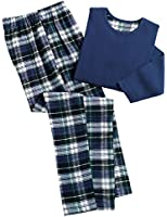 Collections Etc Women's Cozy Country Plaid Flannel Pajamas