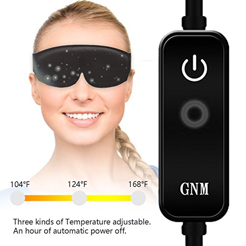 DTNO.I Graphene Eyes Mask Far-infrared Therapy Adjustable Temperature Sleeping USB Heated Eye Massage Mask by DTNO.I (Image #3)