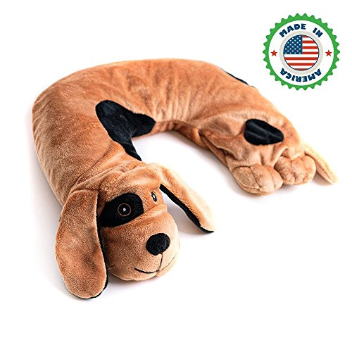 Sensory Weighted Neck Pillow for Kids :: Weighted Neck Wrap/Weighted Shoulder Wrap, Ideal for ADHD, Autsim, Hpyeractivity & Other Special Needs :: 3 lbs, 10'' x 8'', Two Puppy Designs to Choose from by LakiKid