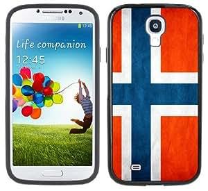 Norway Flag Handmade Samsung Galaxy S4 Black Bumper Hard Plastic Case