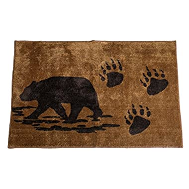 HiEnd Accents Bear Kitchen and Bath Lodge Rug, 24 by 36-Inch