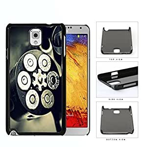 Black and Silver Gun Bullet Chamber with Bullets Loaded Hard Plastic Snap On Cell Phone Case Samsung Galaxy Note 3 III N9000 N9002 N9005