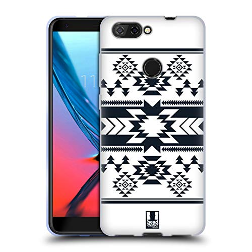 Blades Navajo White - Head Case Designs White Neo Navajo Soft Gel Case for ZTE Blade V9 Vita