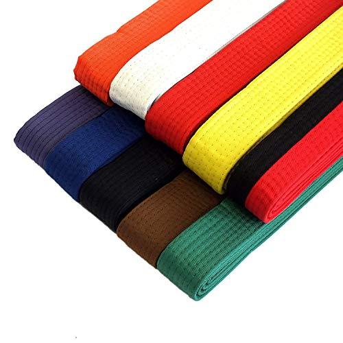 """NEW Taekwondo Karate Martial Arts 1.5/"""" Wide Double Wrap Stripe Belts Green//Blue"""