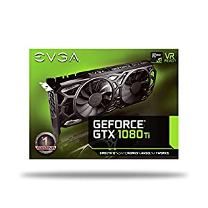 EVGA GeForce GTX 1080 Ti SC Black Edition Gaming, 11GB GDDR5X, iCX Cooler & LED, Optimized Airflow Design, Interlaced…