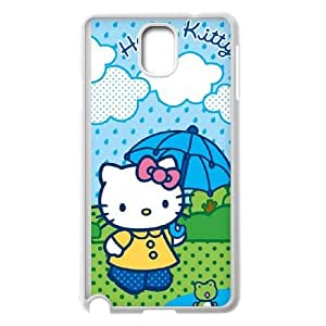 Samsung Galaxy Note 3 Cell Phone Case White Hello Kitty Rainy Day Vubbn