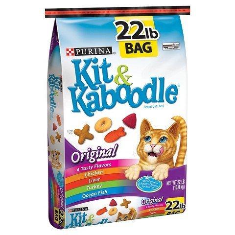PURINA KIT & KABOODLE CAT FOOD ORIGINAL FLAVOR 22 LB BAG