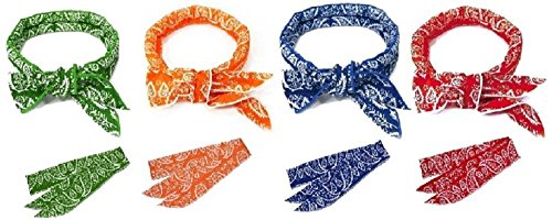 JellyBeadZ Brand 4 pack Cooling Scarf Chilling Sports Sca...