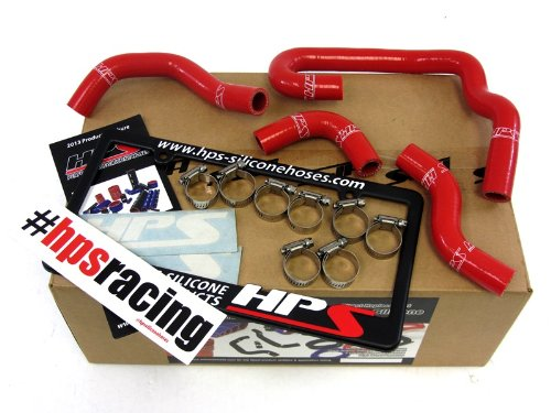 HPS 57-1323H-RED-1 Red Silicone Heater Hose Kit (Coolant)