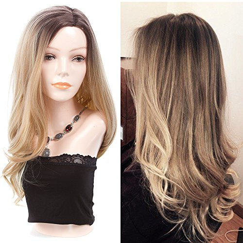 Long Wavy Synthetic Hair Ombre Wigs 23