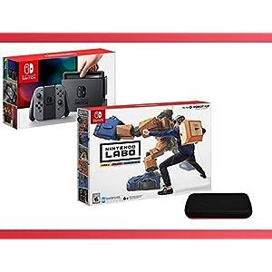 Nintendo Switch - Gray Joy-Con + Nintendo Labo ( Robot Kit ) + Nintendo Switch Travel Carrying Case Bundle ( 3 - Items ) …