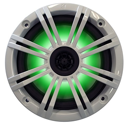 Kicker 6.5'' White LED Marine Speakers (QTY 2) 1 pair of OEM replacement speakers by Kicker (Image #1)