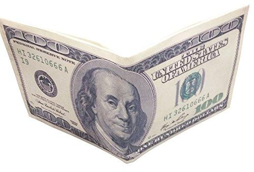 Dollar Bill Green - Franklin Hundred Dollar Bill Money Wallet