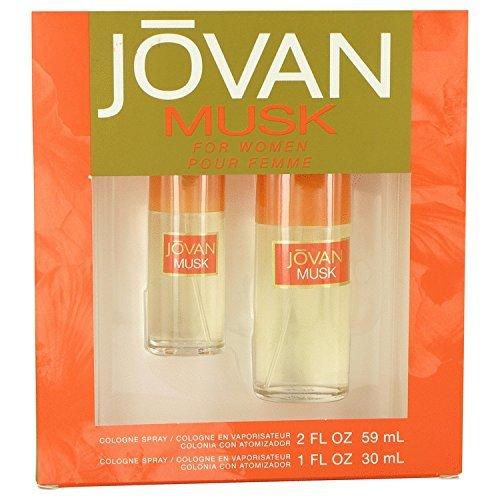 Jovan Musk For Women 2 pack gift set (2FL OZ & 1FL OZ) by Jovan