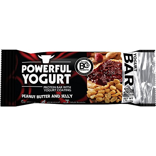 Powerful Yogurt Protein Bar 12 Count (Peanut Butter and Jelly)