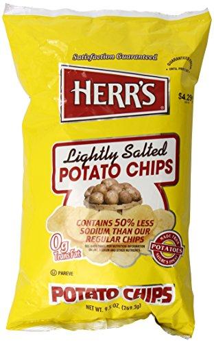 Herr's Lightly Salted Potato Chips, 9.5 Ounce