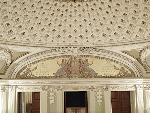 24 x 36 Giclee print of Second Floor Southwest Pavilion. Civilization mural by George W. Maynard in the Pavilion of the Discoverers. Library of Congress Thomas Jefferson Building Washington - Side West Pavilion