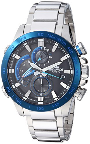 Casio Racing - Casio Men's 'Edifice Connected' Quartz Stainless Steel Sport Watch, Color:Silver-Toned (Model: EQB-800DB-1ACF)