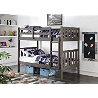 DONCO Kids 4300TTSG Wide Mission Bunk Bed, Twin/Twin, Slate Gray