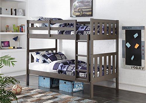 Donco Kids 4300TTSG Wide Mission Bunk Bed, Twin/Twin, Slate ()