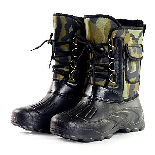 B B B Stivali Uomo Uomo Uomo Boot Caviglia di 41 Pelle Antiscivolo Scarpe Invernali Spessore 45cm Impermeabile alla Neve Felpa Zq5wEpxS