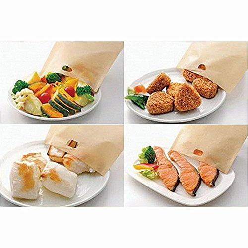ekSel Non Stick Reusable Toaster Bags, Pack of 6 by ekSel (Image #3)