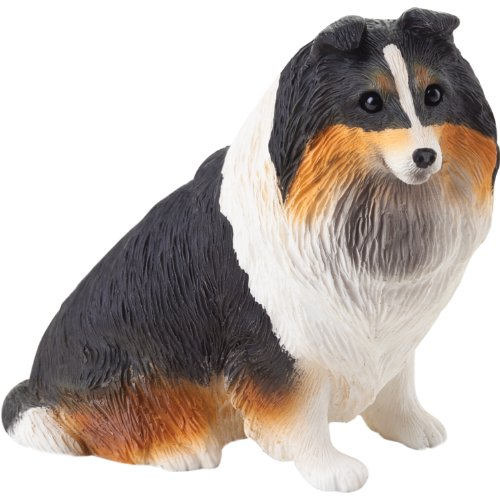 Sandicast Small Size Tri Shetland Sheepdog Sculpture, Sitting