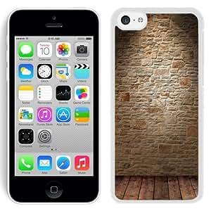 NEW Unique Custom Designed iPhone 5C Phone Case With Wine Cellar Wall_White Phone Case