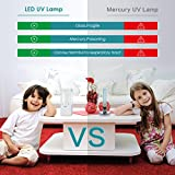 YiLaie UVC Light Sanitizer,LED Germicidal Lamp with Remote Control,Portable Battery Powered Disinfection Sterilization Light for Car Bedroom Washroom Kitchen Shoe Cabinet Toilet, 12W