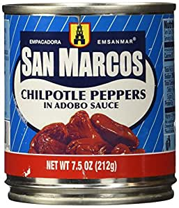 San Marcos Chipotle Peppers in Adobo sauce 7 Ounces.