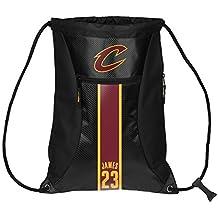 NBA Cleveland Cavaliers LeBron James #23 Official Big Stripe Zipper Drawstring Backpack