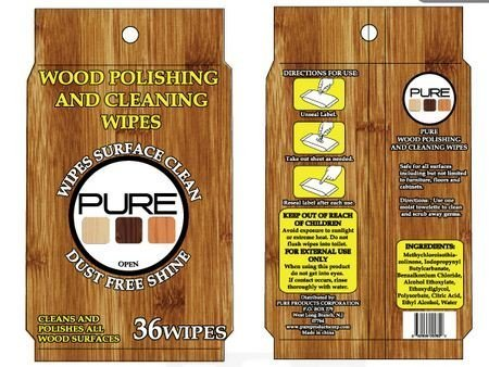 Pure Polishing Cleaning Wipes 36 Count