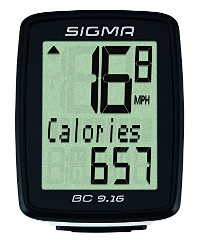 Sigma Sport SIGMA BC906 9-Function Topline Wired Bicycle Speedometer by Sigma
