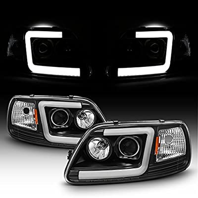 For 1997-2003 Ford F150 97-02 Expedition Truck Tube Bar Projector Headlights Driver+Passenger Side: Automotive