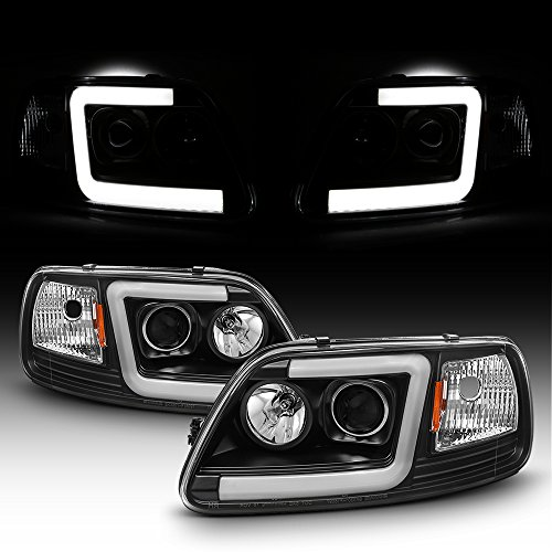 (For 1997-2003 Ford F150 97-02 Expedition Truck Tube Bar Projector Headlights Driver+Passenger Side)