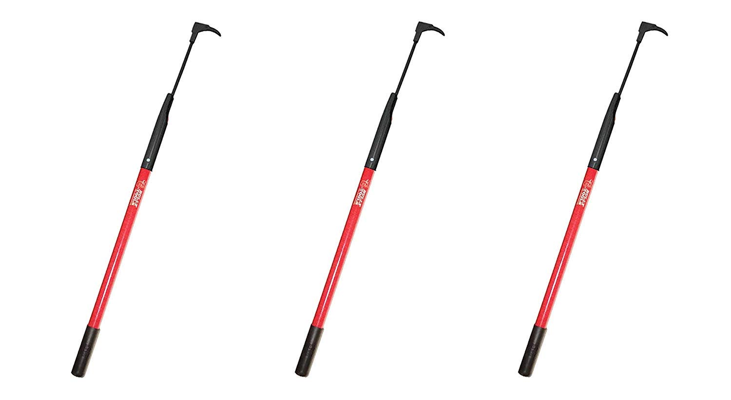 Bully Tools 92395 7-Gauge 3-Inch Bean Hook/Paver Weeder with Dual-Sided Blade (Pack of 3)