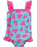 Sociala Baby Girl Toddler One Piece Swimsuit Swimwear Bathing Suit Rash Guard 12/18M