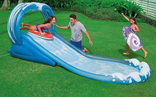 VirtualSurround Surf N Slide Inflatable Kids Water Slide Play Center Splash Pool w Sprayer ()
