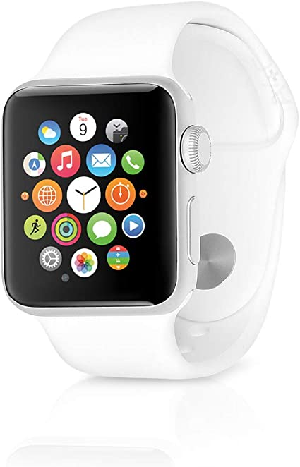 Apple Watch Series 1 Smartwatch 38mm Silver Aluminum Case, White Sport Band (Renewed)